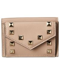 Valentino - Rockstud Leather Wallet - Lyst