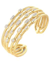 David Yurman | David Yurman Confetti 18k 0.55 Ct. Tw. Diamond Cuff Bracelet | Lyst