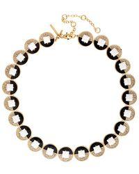 Lele Sadoughi - 14k Plated Crystal Necklace - Lyst