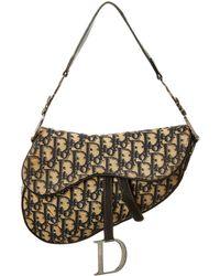 06eb77c631 Dior - Navy Trotter Canvas Saddle Bag - Lyst
