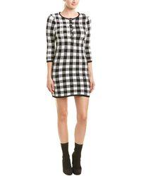 Maje - Woman Gingham Jacquard-knit Cotton-blend Mini Dress Black - Lyst
