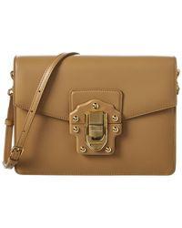 0f59ffe24228 Lyst - Dolce   Gabbana Lucia Quilted Velvet Shoulder Bag in Black