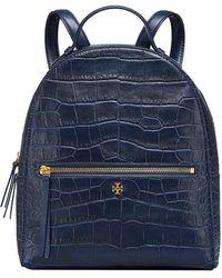 8fda00fc918 Tory Burch - Croc-embossed Mini Leather Backpack - Lyst