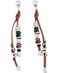 Uno De 50 - Unode50 Beunic Silver Leather Earring - Lyst