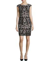 Donna Ricco - Embroidered Sheath Dress - Lyst