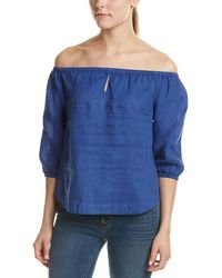 Young Fabulous & Broke - Globe Off-the-shoulder Linen Top - Lyst