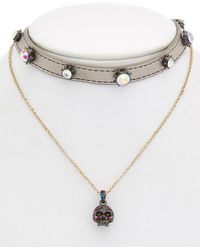 Betsey Johnson - Halloween Cz Multi-necklace - Lyst