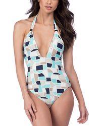 Trina Turk - Disco Deco V-plunge Swimsuit - Lyst