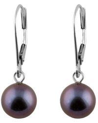 Splendid - 14k 7-7.5mm Pearl Drop Earrings - Lyst