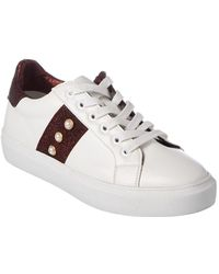 Steven by Steve Madden - Canea Leather Trainer - Lyst