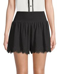 Rebecca Taylor - Amora Embroidered Shorts - Lyst