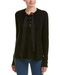 Autumn Cashmere - Silk-trim Sweater - Lyst