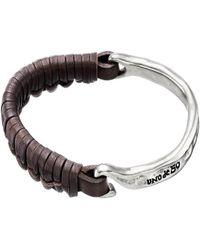 Uno De 50 - Unode50 Rock Silver Plated Leather Bracelet - Lyst