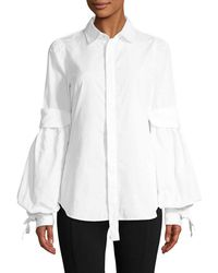 DSquared² - Puff Sleeve Blouse - Lyst