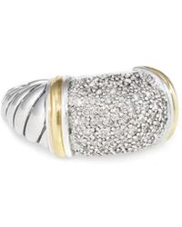 David Yurman - David Yurman Metro 18k & Silver 1.00 Ct. Tw. Diamond Ring - Lyst