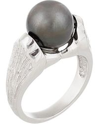 Splendid - Silver 9-10mm Tahitian Pearl Ring - Lyst