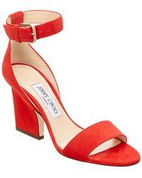 c34bb0bbf86 Lyst - Jimmy Choo Edina 35 Suede Ankle Strap Sandal