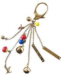 Louis Vuitton - Gold-tone Monogram Bag Charm - Lyst