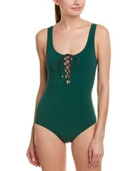 Stella McCartney - Scoop-neck Tie-front Swimsuit - Lyst