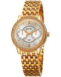 August Steiner - Diamond Accent Alloy Watch - Lyst