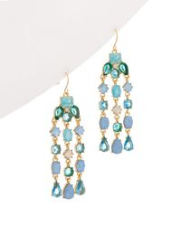 Carolee - Crackled Stones Cz Drama Chandelier Earrings - Lyst