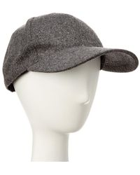 August Accessories - August Hat Company Grey Wool-blend Baseball Cap - Lyst