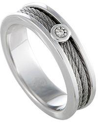 Charriol - Silver & Stainless Steel Diamond Ring - Lyst