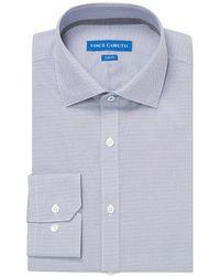 Vince Camuto - Diamond Print Slim Fit Dress Shirt - Lyst