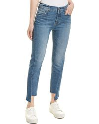 7 For All Mankind - 7 For All Mankind Josefina Blue Skinny Jean - Lyst