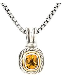 David Yurman - David Yurman Cable 14k & Silver 5.50 Ct. Tw. Citrine Necklace - Lyst