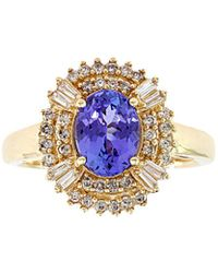 Effy - Fine Jewellery 14k 1.62 Ct. Tw. Diamond & Tanzanite Ring - Lyst