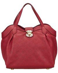 Louis Vuitton - Red Monogram Mahina Leather Cirrus Pm - Lyst