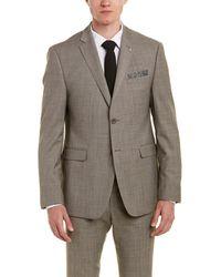 Original Penguin - Slim Fit Wool-blend Suit With Flat Front Pant - Lyst