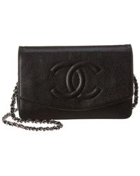 2b0f1f58a83db9 Chanel Authentic Boy Black Quilted Caviar Leather Zip Around Wallet ...