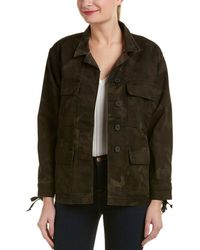 True Religion - Military Coated Jacket - Lyst