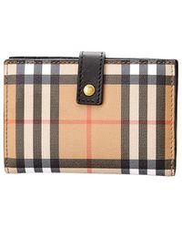 Burberry - Rectangular Leather Wallet - Lyst