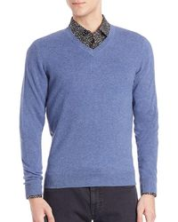 Saks Fifth Avenue - Collection Collection Cashmere V-neck Sweater - Lyst