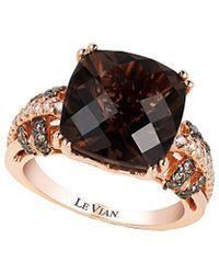 Le Vian - ® 14k Rose Gold 6.32 Ct. Tw. Chocolate & White Diamond & Smoky Quartz Ring - Lyst