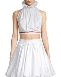 White Story - Two-piece Halter Flare Top - Lyst
