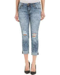 Kut From The Kloth - Amy Idealistic Wash Crop Straight Leg - Lyst