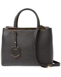 Fendi - 2jours Petite Leather Tote - Lyst
