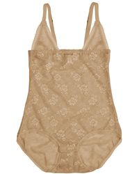 Cosabella - Glam Nude Compression Lace Bodysuit - Lyst