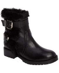 Charles David - Rustic Leather Moto Bootie - Lyst
