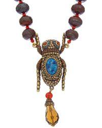Heidi Daus - Beetle Crystal Necklace - Lyst