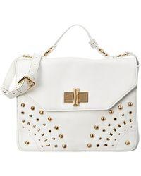 Belle By Badgley Mischka - Belle By Badgley Mischka Delia Leather Shoulder Bag - Lyst