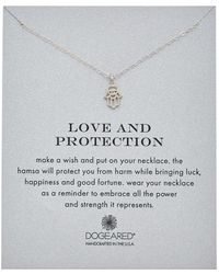 Dogeared - Reminder Collection Hamsa Silver Necklace - Lyst