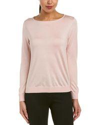 Lafayette 148 New York - Bateau Neck Silk-blend Sweater - Lyst