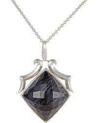 Stephen Webster - Silver & Rhodium Gemstone Necklace - Lyst