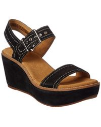 7919e830c6f9 Lyst - Clarks Women s Aisley Tulip Wedge Sandal in Black
