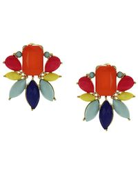 Sparkling Sage - 14k Plated Resin Earrings - Lyst